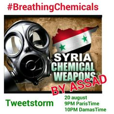 You have chance you are not #BreathingChemicals #Syria #سوريا Join the #TweetStorm https://sites.google.com/site/syriachemical/…  Aug 20