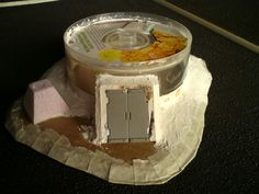 Imperial bunker from an old cd case and cardboard