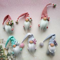 20 Christmas Gnome Ornaments – A Quick, Adorable Craft Woodland Christmas, Christmas Gnome, Scandinavian Christmas, Diy Christmas Gifts, Christmas Projects, Christmas Ornaments, Christmas Mantels, Rustic Christmas, Christmas Holidays