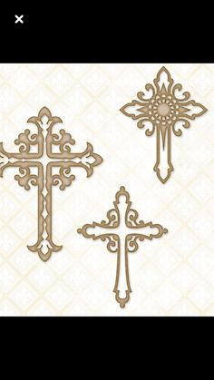 Blue Fern Studios - Chipboard - Ornate pieces per set measuring from inches. Scroll Saw Patterns, Cross Patterns, Scroll Pattern, Stencil Templates, Stencils, Sta Rita, Cross Coloring Page, Cross Art, Wood Crosses