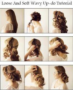 Loose And Soft Hair Tutorial Romantic Hairstyles, Pretty Hairstyles, Cute Hairstyles, Updo Tutorial, Soft Hair, Beauty Tutorials, Bad Hair, Great Hair, Hair Dos