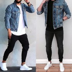 Look masculinos, roupas jeans masculinas, estilos de roupas masculinas, jea Men Street, Street Wear, Street Casual Men, Mode Man, Casual Outfits, Men Casual, Stylish Men, Casual Winter, Party Outfits
