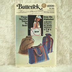 Bags Pattern Butterick 4900 Crafts Lined от DartingDogCrafts