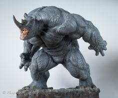 Rhino Comiquette Polystone Statue by Sideshow Collectibles Marvel Statues, Harley Quinn Comic, Batman Poster, Joker Art, Modelos 3d, Game Character Design, Hulk Marvel, Sideshow Collectibles, Action Poses