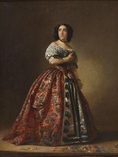 """valinaraii: """"Manuel Cabral y Aguado Bejarano: Actress Teodora Lamadrid as Adrienne Lecouvreur. 1853. Madrid, Museo Nacional del Romanticismo. Red Digital de Colecciones de Museos de España. """""""