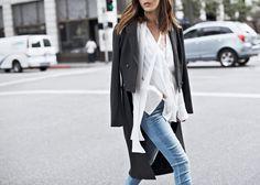 Polished Dress Down Trench – http://tsangtastic.com | Instagram @tsangtastic  Paige 'Edgemont', Vince Sneaker
