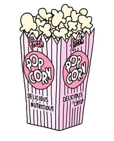 Just love this tumblr popcorn clipart, it's super cute and it would be nice to…