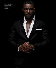 "Savage"" Donny Savage photographed by Marvin at uys Fine Black Men, Gorgeous Black Men, Handsome Black Men, Fine Men, Beautiful Men, Black Men In Suits, Black Man, Mens Suits, Sharp Dressed Man"