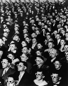 introduction of 3-D movies  eyerman/life 1952