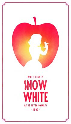 Snow White Classic Disney Movie Posters - Created by Keith Bogan Disney Movie Posters, Movie Poster Art, Disney Films, Disney And Dreamworks, Disney Pixar, Disney Villains, Disney Maleficent, Minimalista Disney, Poster Minimalista