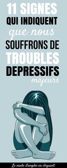 Par exemple, si je devais vous demander de décrire une personne déprimée, à quoi penseriez-vous ? À quelqu'un qui a du mal à sortir du lit tous les jours ? À quelqu'un qui est isolé de ses amis et qui dort 10 ou 12 heures par jour ? À quelqu'un qui ne peut pas arrêter de pleurer ? La chose la plus délicate à propos des troubles dépressifs majeurs est qu'ils sont difficiles à repérer, car les personnes qui en souffrent semblent de l'extérieur, aller bien. Voici 10 symptômes...#santé… Pilates Video, Meditation, Trouble, I Feel Good, Life Advice, Positive Attitude, Get Healthy, Signs, Physique