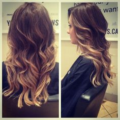 Clients ombre hair
