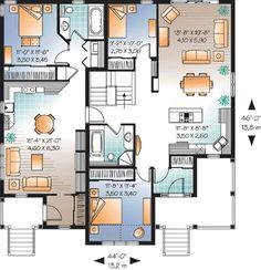 House on pinterest duplex house plans duplex plans and for Bi generation house plans
