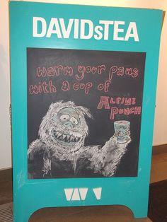 Sandwich Board Art - Because even abominable snowmen need to stay warm! -  DAVIDsTEA Bloor Annex