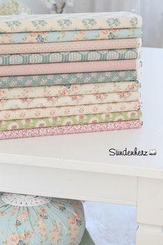 11 mal 25x55 cm Tilda Stoffpaket Lizzie Teal von Sündenherz auf DaWanda.com