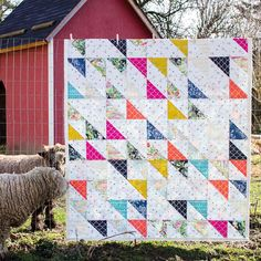 """853 Likes, 16 Comments - We Are Fabrics (@artgalleryfabrics) on Instagram: """"You know a quilt looks great when even sheep love it! We agree with the sheep because we love the…"""""""