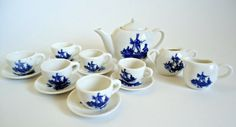Delft Blue Children's Tea Set Vintage 16 Piece by TreasureCoveAlly