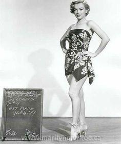 Marilyn in a short sarong dress