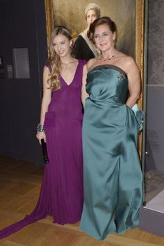 Archduchess Eleonore Von Habsburg and her daughter Princess Francesca Von Habsburg attend the 'Cartier: Le Style et L'Histoire' Exhibition Private Opening at Le Grand Palais on 02 Dec 2013 in Paris, France.