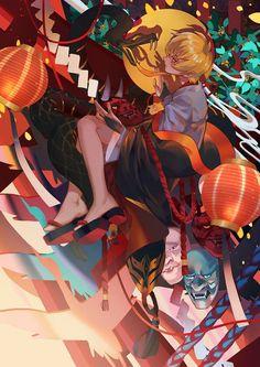 Hannya // Onmyoji Anime Fantasy, Fantasy Art, Character Illustration, Illustration Art, Desu Desu, Character Art, Character Design, Anime Life, Anime Artwork