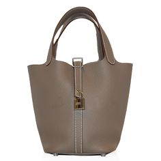 Hermes Taupe Picotin Bag  http://www.consignofthetimes.com/product_details.asp?galleryid=6600