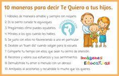 10 maneras para decir Te Quiero a tus hijos