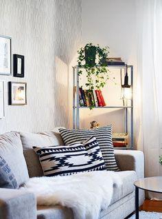 15 ideas para decorar con estanterías metálicas