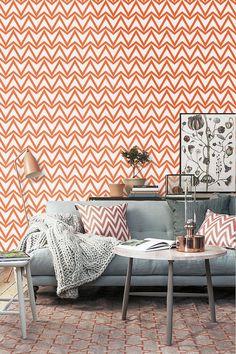 Vinyle auto-adhésif wallpaper Triangle zig zag-pattern - neige 037 / CAPRI