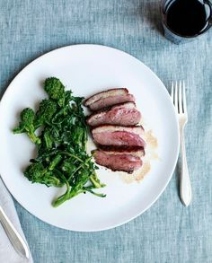 Savory Honey Lacquered Duck Breast with Chopped Nuts Recipe