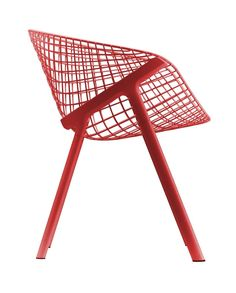 Red Dining Chair - Geometric