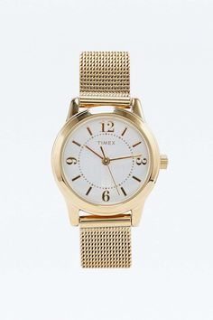 Timex Small Metal Mesh Watch in Gold £55