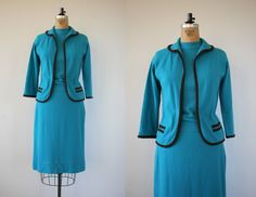 vintage 1960s three piece sweater set / 60s by livinvintageshop