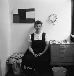 Not originally published in LIFE. Ray Eames at home in California, 1950.