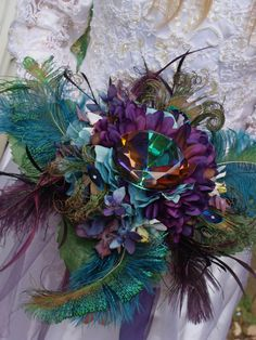 Diamond #peacock centerpiece #wedding #decor