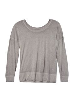 alloy lightweight Long sleeve plus size burnwash tee (original price, $28) available at #Maurices