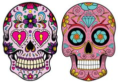 Cross stitch pattern: Mexican Calaveras by YukyHandmade on Etsy Caveira Mexicana Tattoo, Sugar Skull Artwork, Sugar Skull Girl, Sugar Skulls, Cross Stitch Patterns, Crochet Patterns, Custom Holsters, Day Of The Dead Art, Skull Pictures