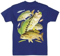 Guy Harvey Shirts - Guy Harvey Bass Collage Youth Tee Shirt in Yellow, Orange, Navy or White, $12.95 (http://www.guyharveyshirts.com/guy-harvey-bass-collage-youth-tee-shirt-in-yellow-orange-navy-or-white/)