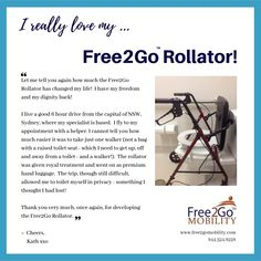 """Let me tell you again how much the Rollator has changed my life! I have my freedom and dignity back! Thank you very much, again, for developing the Rollator! Bathroom Safety, Muscular Dystrophies, Portable Toilet, Elderly Care, Multiple Sclerosis, Change My Life, Ibm, Caregiver, Arthritis"