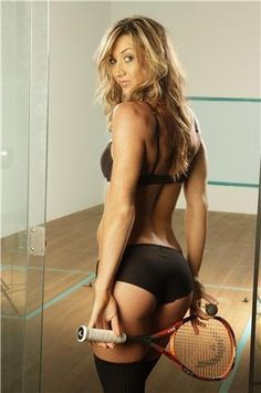 Cheers to a great weekend. WHO SAYS SQUASH is for BOYS only? Here's one for the boys! Donna Urquhart of Australia. ;) and HEAD racquet!