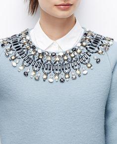 Jewel Neck Sweater | Ann Taylor