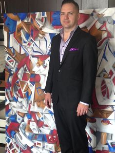 Chris Fewell and his bespoke LGFG suit are meant to be together! Love this look!