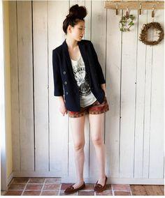 Print shorts / ShopStyle: ビームス ウィメン ネイティブプリント ショートパンツ