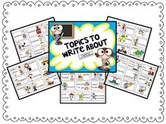 45 Writing topics cards to help spark creativity in writing. Say good-bye to writer's block!