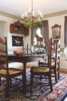 Horse as table center piece…