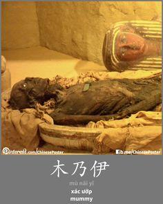 木乃伊 - mù nǎi yī - xác ướp - mummy