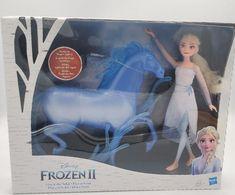 Disney Frozen 2 Elsa Fashion Doll and Nokk Figure Playset by Hasbro (Brand New)