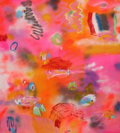 Minna Gilligan, Love Me Tender, 2013, acrylic and spray paint on canvas, 152 x 137 cm