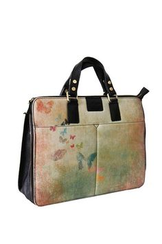Butterflies Likes White 13'' Laptop Bag by ArtofWeaving on Etsy, $320.00