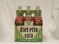 Diet Rite Cola - on rare occasions I would get a sip of my mothers - she and her friends would sip them with straws in the bottle while smoking cigarettes at the country club pool!