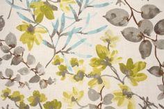 Braemore Gazebo Printed Linen Blend Drapery Fabric in Cloud $11.95 per yard